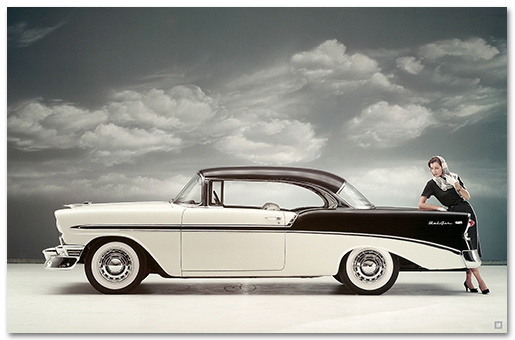 Chevrolet Bel Air 1956 Sport Coupe Art Poster-ChevyMall