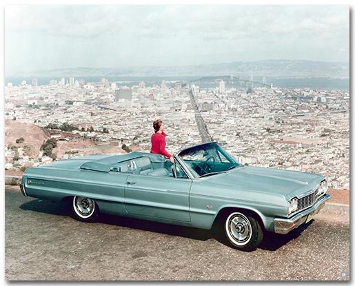 Chevrolet Impala Ss 1964 Convertible Art Poster Chevymall