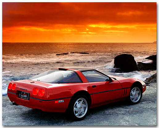 2018 Silverado Ss >> C5 Corvette ZR1 Art Poster-ChevyMall