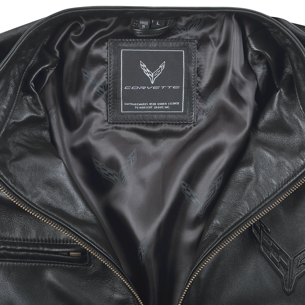 2020 C8 Corvette Lambskin Leather Jacket-ChevyMall