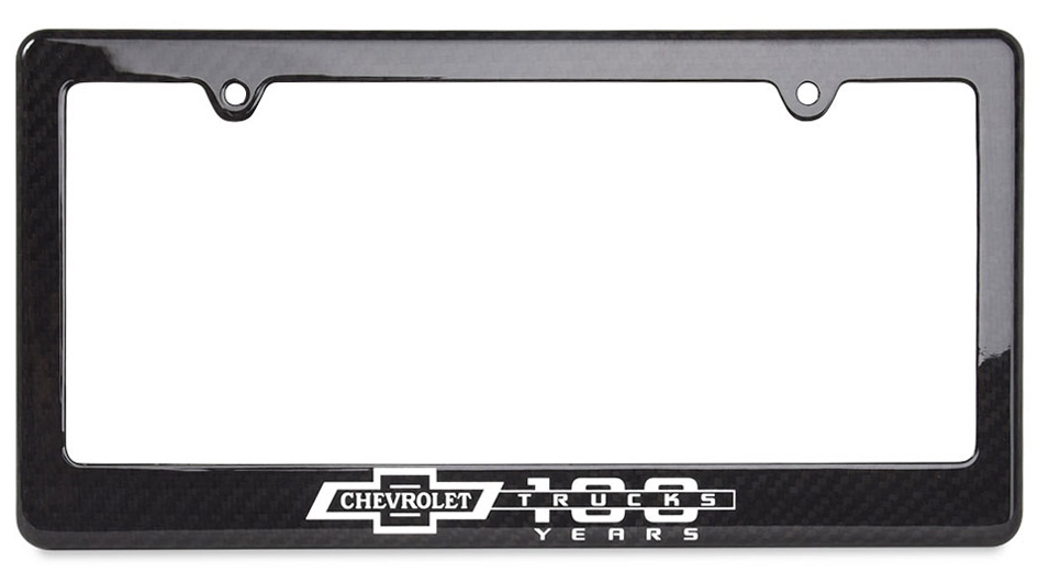Chevy Trucks 100 Years Carbon Fiber License Plate Frame ...