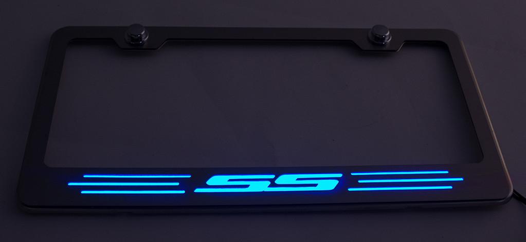 Camaro Ss Illuminated License Plate Frame Choose Color