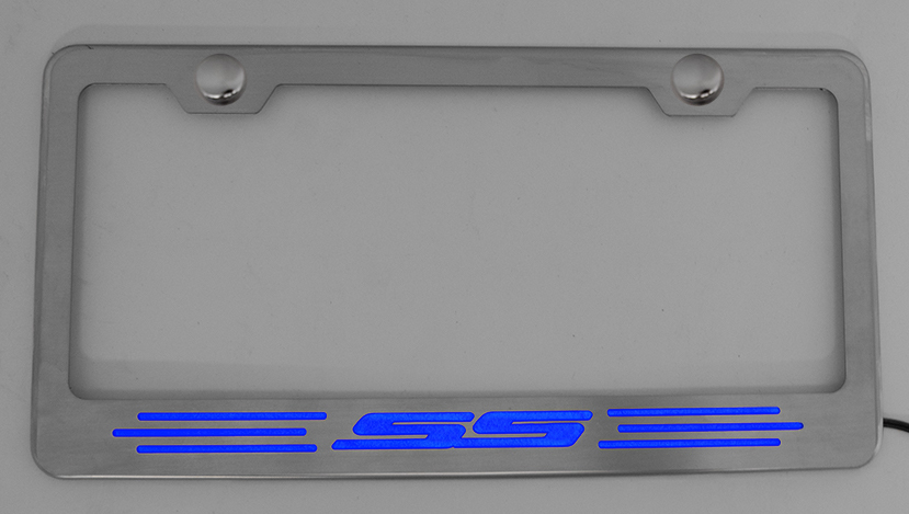 Camaro SS Illuminated License Plate Frame - Choose Color ...