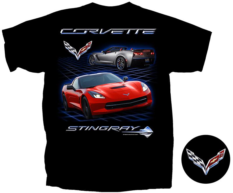 C7 Corvette Black T-Shirt-ChevyMall
