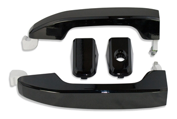 2014 - 2017 Silverado Black Door Handles-ChevyMall