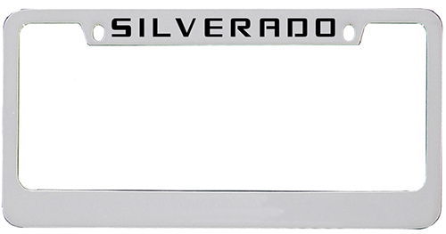 2014 - 2017 Silverado Top Engraved License Plate Frame-ChevyMall