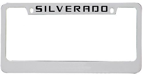 2014 - 2019 Silverado Top Engraved License Plate Frame-ChevyMall