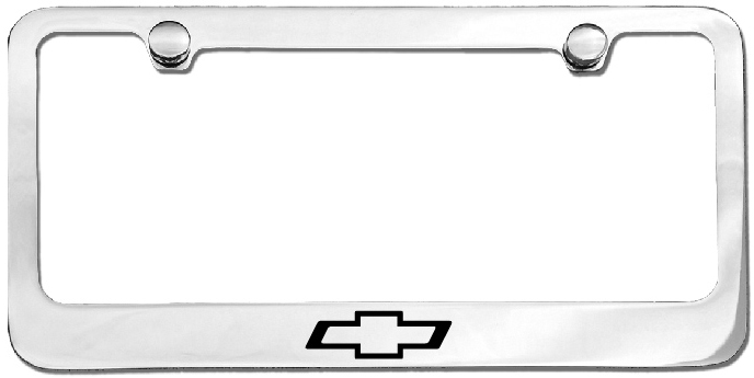 Chevrolet Black Bowtie License Plate Frame-ChevyMall