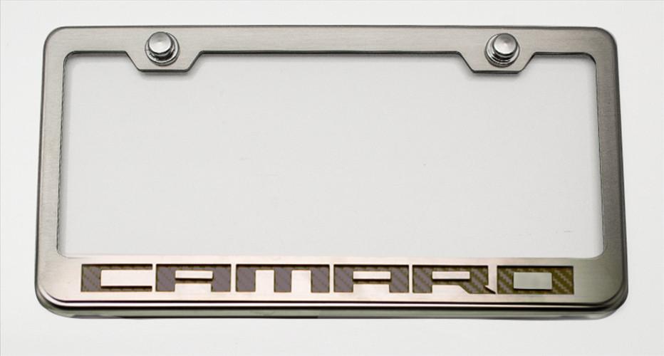Camaro Logo Chrome License Plate Frame - Choose Inlay Color ...