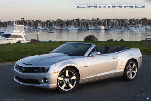 Camaro Convertible Silver Ice Metallic Art Poster Chevymall