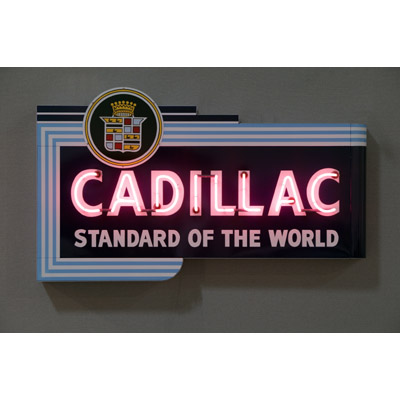 Cadillac Sign Chevrolet Neon Sign Vintage Chevy Sign