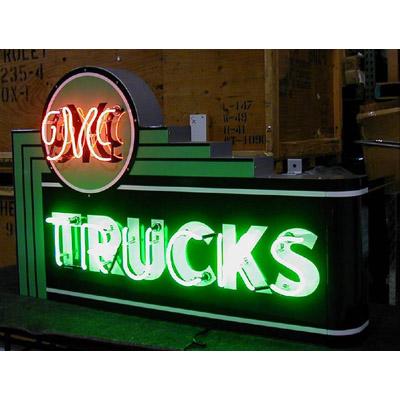 Gmc Trucks Dealer Neon Sign Chevymall