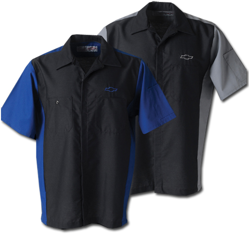 Chevrolet mens work shirt chevymall for Work polo shirts embroidered