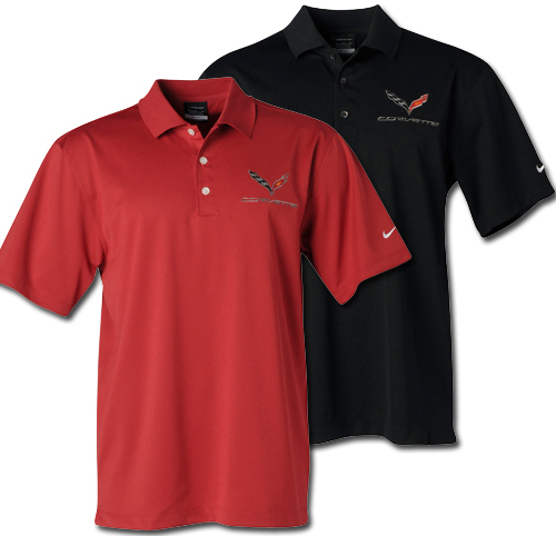 ac3dc3230 C7 Corvette Mens Nike Dri Fit Polo-ChevyMall