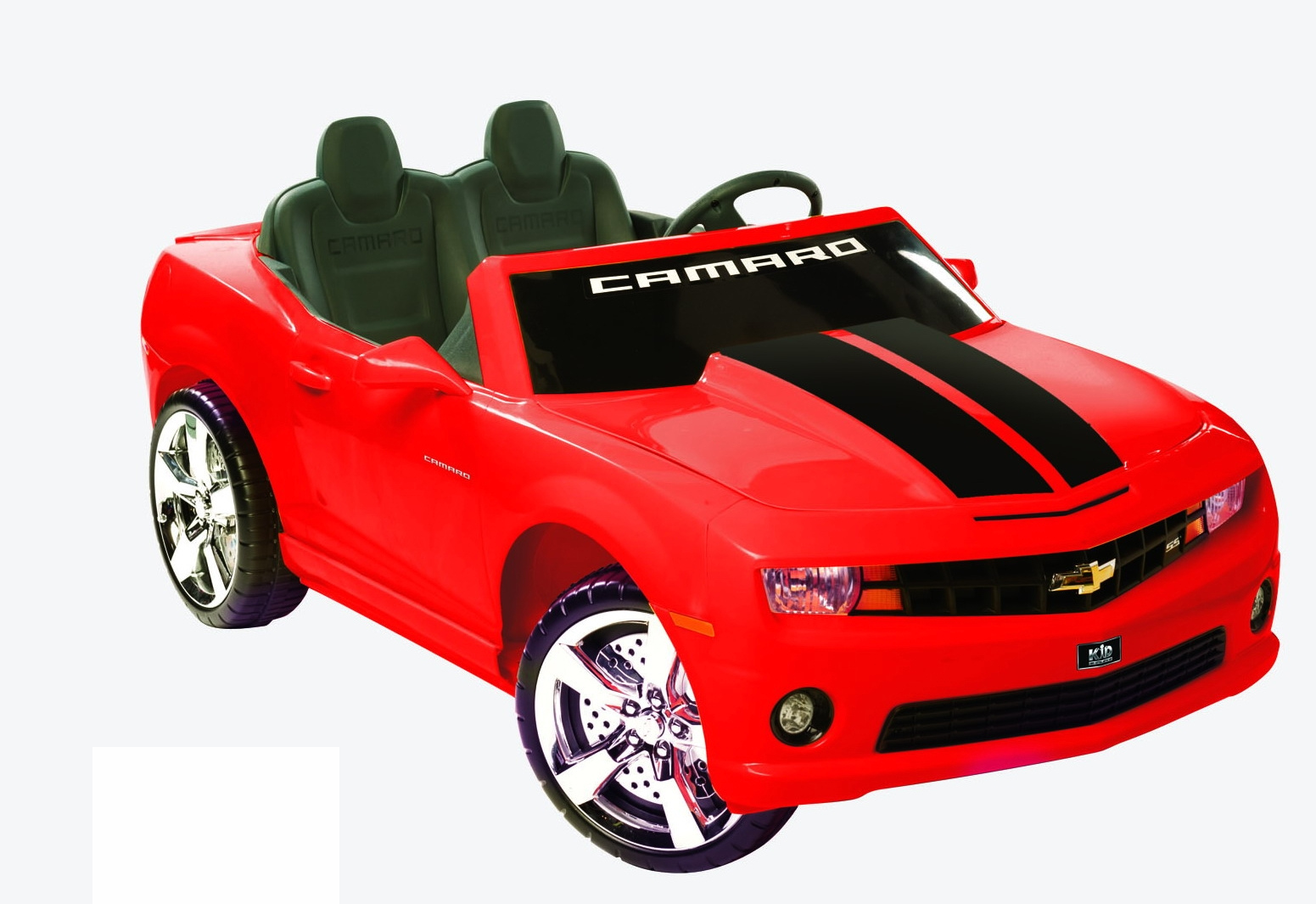 camaro red racing 2 seater 12v kids car