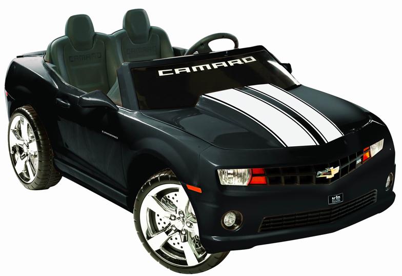 Camaro Black Racing 2 Seater 12v Kids Car