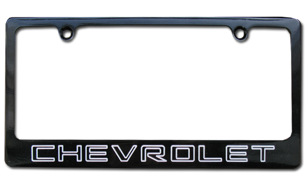 Chevrolet Black License Plate Frame-ChevyMall