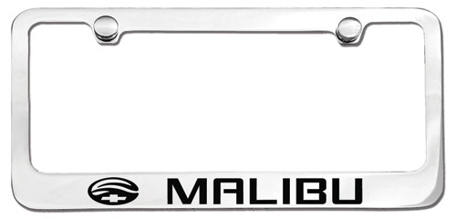 Malibu License Plate Frame-ChevyMall