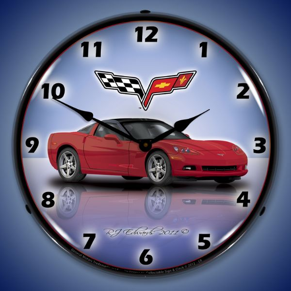 C6 Corvette Wall Clock Choose Exterior Color Chevymall