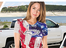 Chevy Ladies American T-Shirt