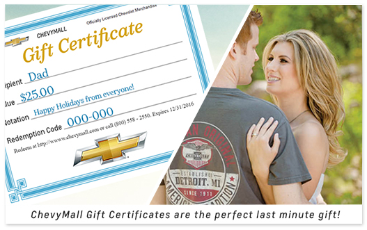 ChevyMall Gift Certificates