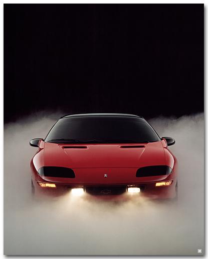 Camaro 1993 Coupe Art Poster-ChevyMall