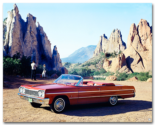 Chevrolet Impala 1964 Convertible Art Poster-ChevyMall