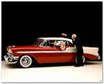Chevrolet Bel Air 1956 Sport Sedan Art Poster