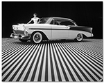 Chevrolet Bel Air 1956 Coupe Art Poster