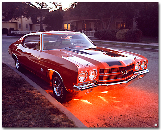 Chevelle 1970 Ss Art Poster Chevymall