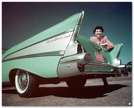 Chevrolet Bel Air 1957 Convertible Art Poster-ChevyMall