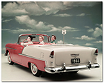 Chevrolet Bel Air 1955 Convertible Art Poster