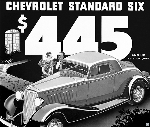 Chevrolet 1933 Standard Coupe Ad Art Poster-ChevyMall