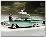 Chevrolet 1958 Bel Air Impala Coupe Art Poster