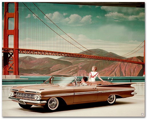 Chevrolet Impala 1959 Convertible Art Poster Chevymall