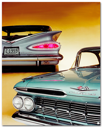 Chevrolet Impala 1959 Models Art Poster-ChevyMall