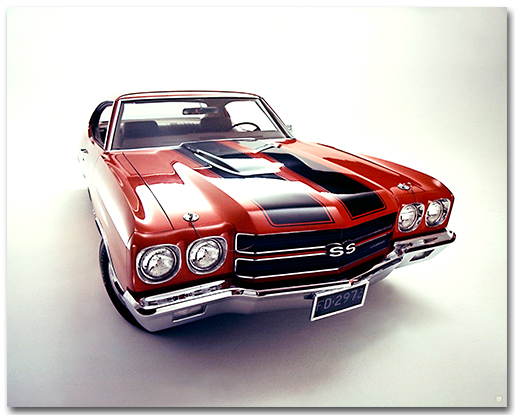2018 Chevy Tahoe >> Chevelle 1970 SS Coupe Art Poster-ChevyMall