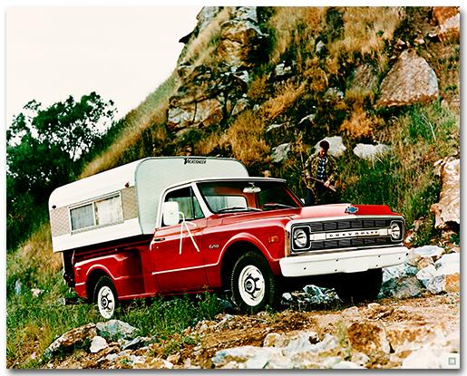 Chevrolet 1970 C-10 Stepside Pickup Truck Art Poster-ChevyMall