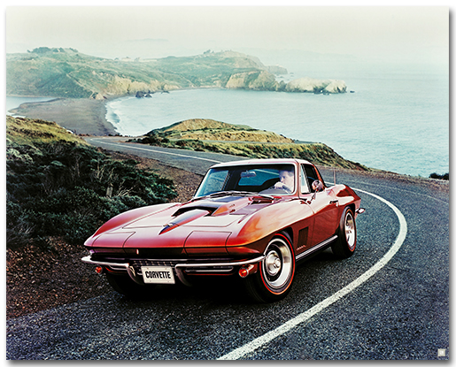 C2 Corvette 1967 Sting Ray Coupe Art Poster-ChevyMall