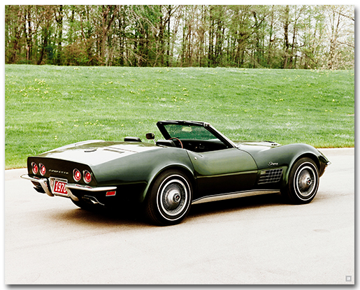 Corvette 1970 Stingray Art Poster Chevymall