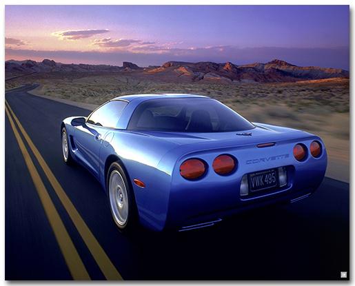 C5 Corvette 1997 Art Poster-ChevyMall