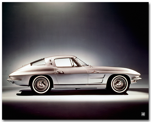 C2 Corvette 1963 Sting Ray Coupe Art Poster-ChevyMall