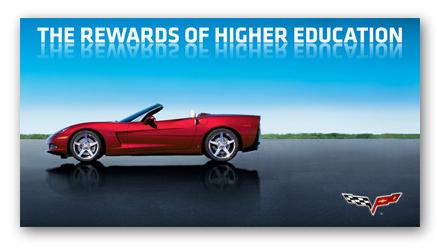 C6 Corvette Higher Education Poster - ChevyMall