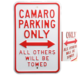 Camaro Parking Only Street Sign-ChevyMall