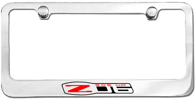 z06 c6 corvette license plate frame