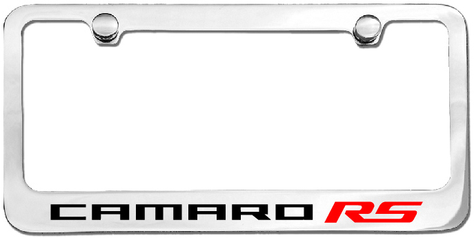 Chevy License Plate Frames | Camaro RS License Plate Frame ...
