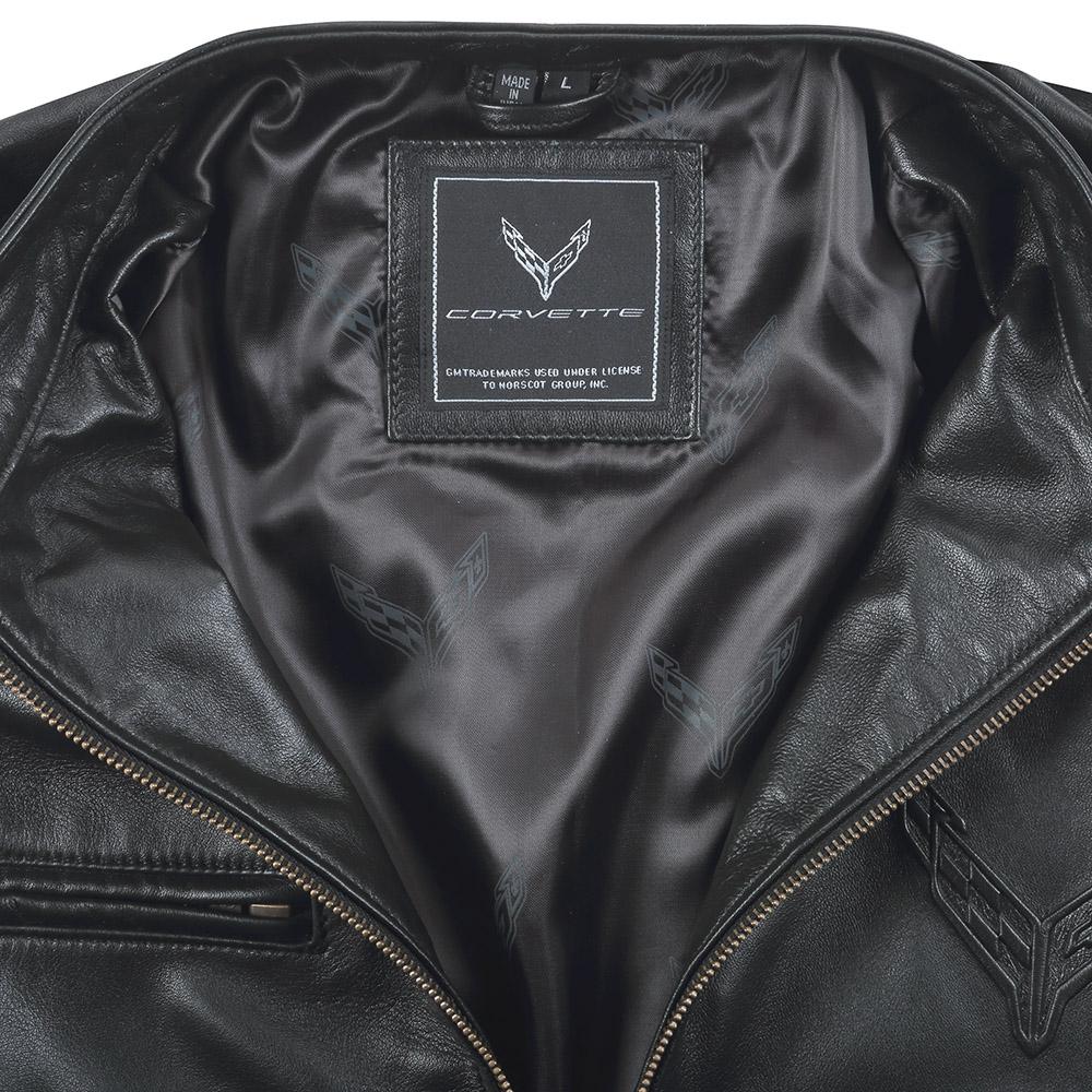 2020 C8 Corvette Lambskin Leather Jacket-ChevyMall