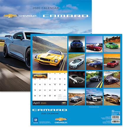2020 Camaro Wall Calendar-ChevyMall
