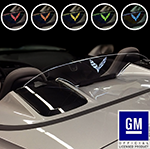 c7 corvette 2014 - 2019 convertible wind restrictor - etched & illuminated