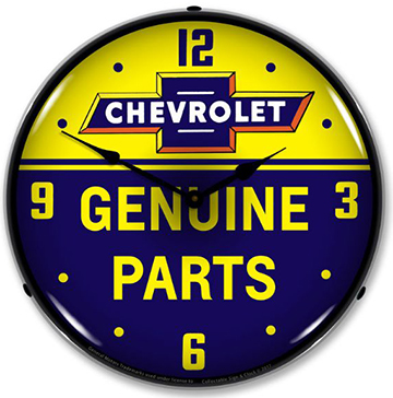 Chevrolet Genuine Parts Lighted Wall Clock-ChevyMall